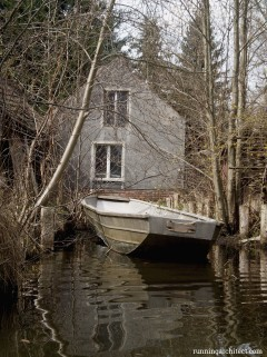 rowing in Spreewald, Germany