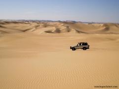 in the desert nearby Siwa