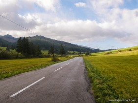 On the road, Huty, Slovakia
