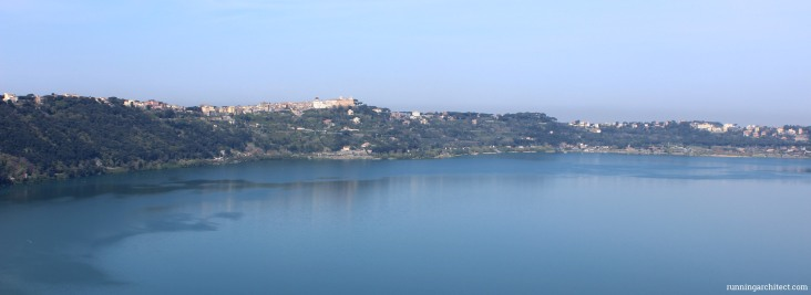 panorama with castel gandolfo on horizont
