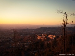 rocca di pappa at sunset