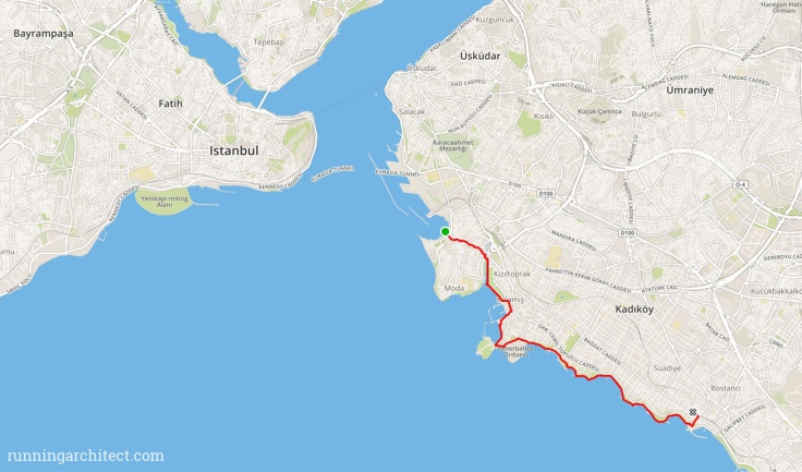 screnshot of the route