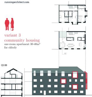 variant 3 - community housing for elderly