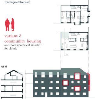 variant 3 - community housing for elderly