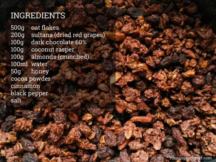 ingredients chocolate granola